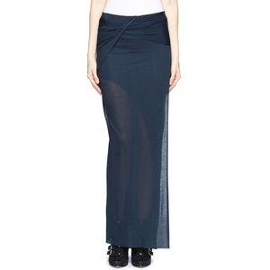 HELMUT LANG Slack Jersey Long Skirt